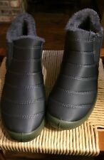 Snow Boots Waterproof fur lined Gray Ladies Size 9.5 (Euro 42)