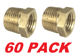 Sioux Chief 1/4 in. x 1/8 in. Lead-Free Brass MIP x FIP Hex Bushing (60 PACK)