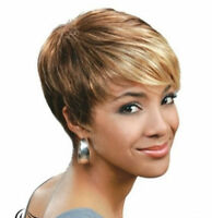 NEW!New Style Short Straight Blonde African American Wigs for Women