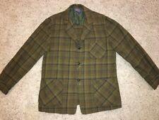 VTG Pendleton Woolen Mills Green Plaid 3 Button Wool Sport Coat Blazer Men's L