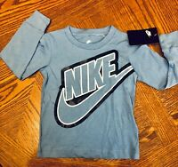 NWT Toddler Boys NIKE Shirt Size 3T 3 Long Sleeve Blue  NEW