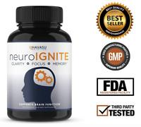 NeuroIGNITE Nootropic Focus Memory Brain Booster Supplement W/ St. Johns Wort