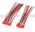 5Pairs 100mm JST Connector Plug Cable Line Male+Female for RC BEC Lipo Battery K