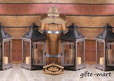 "6 large 19"" tall Wood metal Candle holder Lantern lamp wedding table centerpiece"