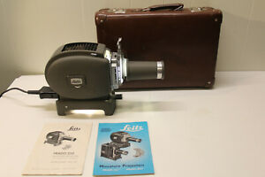 Leitz Prado 250 35mm Slide Projector with Case MINTY and works