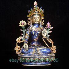 Old Tibet Cloisonne Tibetan Buddhism Statue ----white Tara  f01