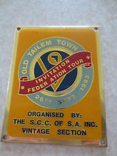 Old Tailem town SA car badge for Ford Chev Holden Austin Morris MG Buick VW