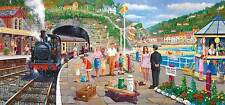 Gibsons Seaside Train Jigsaw Puzzle (636 Pieces) - Brand New Gibson