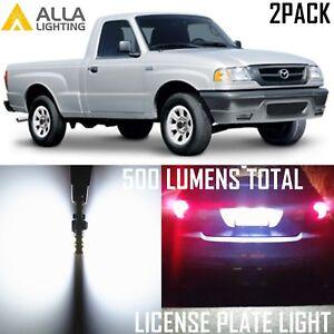 Alla Lighting License Plate Light 194 Tag Lamp Super White LED Bulb for Mazda,2x