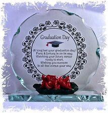Graduación Personalizado Regalo Poema Placa De Cristal Tallado inusual Unisex presentes #8