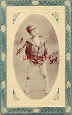I AM JOHNNIE ON THE SPOT embossed Tough kid smoking a pipe 1913