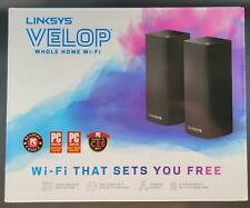 Linksys WHW0302B 2-Pack Velop Tr-Band WiFi 5 Mesh System AC4400 Black