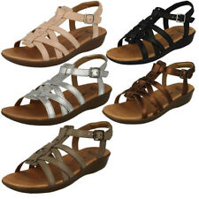 Clarks Women's Leather gladiator Sandals & Beach Shoes