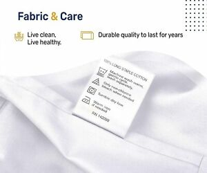 400-Thread-Count 100% Cotton Sheet Pure White Queen-Sheets Set, 4-Piece Long-Sta