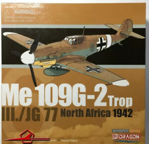 Dragon Warbirds 50087 Me 109G-2 Trop III Jg 77 North Africa 1942 1:72 Scale