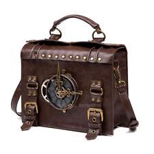 Antique Gear Leather Renaissance Navigator Shoulder Bag Medievel Costume Attract