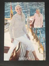 8dc1aa5d63e494 Sirdar Ladies Sweaters Cotton Rich Knitting Pattern 7273 Aran (Sirdar-7273)