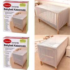 Clippasafe Babybett Katzennetz Katzenschutz für Kinderbett 135 oder 150 weiß Neu