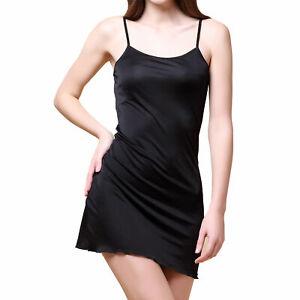 Pure Silk Knitted Chemise Full Slips Sleepwear SKCH5301 Solid Size 2 6 10 12