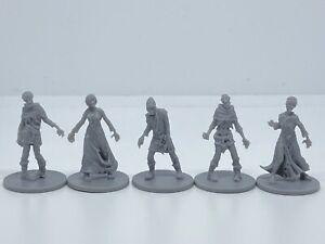 CMON Zombicide - 5x ZOMBIE VILLAGERS - Fantasy RPG Miniature D&D