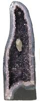 """25"""" Amethyst Cathedral Crystal Quartz Cluster Natural Stone Specimen Brazil"""