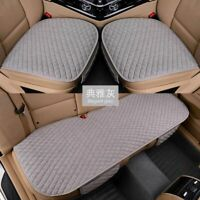 Universal Breathable Car Seat Cover Four Seasons Linen Fabric Front Rear Flax