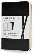 Moleskine Volant Notebook (Set Of 2 ), Extra Small, Ruled, Black, Soft Cover X