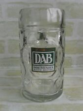 collectable - 1 LITRE DAB DORTMUNDER ACTIEN BRAUEREI DIMPLED GLASS Beer Stein