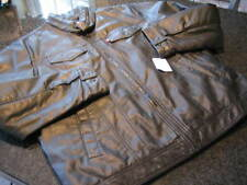 NWT - Mens LEVIS Vintage Washed Faux Leather Motorcycle Jacket (2XL)