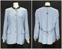 Womens Schneiders Salzburg Trachten Sport Coat Blazer Jacket Blue Size 44 / UK18