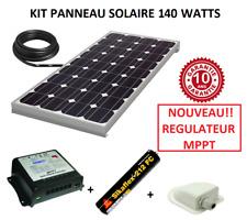 Kit panneau solaire 140w monocristallin MPPT  pour camping car / bateau