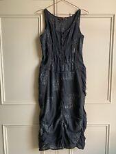Stunning Vintage Grey Cop Copine Dress. Size 38 FR