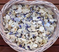 Natural Biodegradable Wedding Confetti Natural Blue & Ivory Flutter Petals 1L