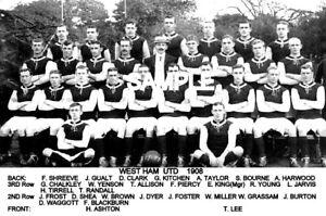 West Ham Utd FC 1908 Team Photo