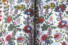 Craft Sewing Running Hand Block Fabric Floral Design 100% Cotton Fabric 5 Yard