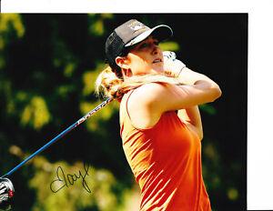 LPGA SUPERSTAR JAYE MARIE GREEN SIGNED ORANGE TANK TOP 8X10 SUPER HOT