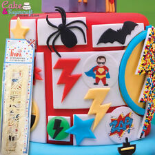 Superhero Cutter Set Cake Decorating 12 Designs Sugarcraft Sugarcraft FMM