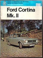 Ford Cortina Mk 2 Pearsons Ilustrado auto servicio de guía para el propietario de los conductores