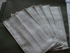 LOT OF 5 MINT BURLAP SAND BAGS GREAT FOR DISPLAYS - #EQ1