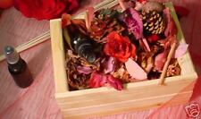 Victorian Rose potpourri in crate with 1 oz oil