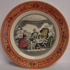 Adams DICKENS Dinner Plate MR. MICAWBER Orange - OLD BACK STAMP