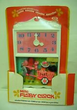 #3234 NRFB Vintage IDEAL Mini Flatsy Clock Play Time with Dolls