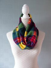 Tartan snood, plaid loop scarf, coloured tartan neck warmer, checked cowl scarf