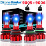 mini 9005+9006 CSP LED Headlight 10000K Cool Blue High Low Beam Conversion Kit