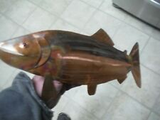 Copper Salmon . Copper art fish Wall hanging