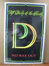 Puff Daddy & the Family NO way Velvet Black Light Poster 1997 flocked Inv#G1226