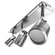 Chrome & Satin 3 Spot Bathroom Kitchen LED GU10 Bulb Ceiling Bar Light Fitting