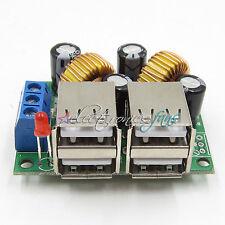 4-USB Port Step-down Power Supply Konverter Board Modul DC 12V 24V 40V to 5V 5A