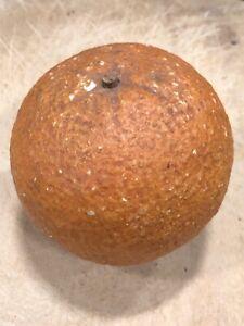 Early Antique Italian Alabaster Stone Fruit Marble Stone Alabaster Orange Italy