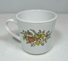'70s Vintage Spice of Life Centura by Corning Glossy White Coffee/Tea Mug Cup